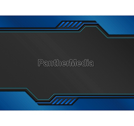 blue tech background with decorative lines