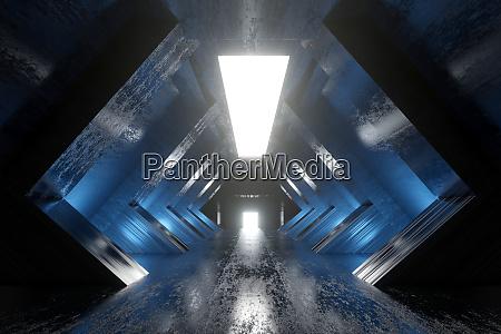 eine science fiction tunnel animation