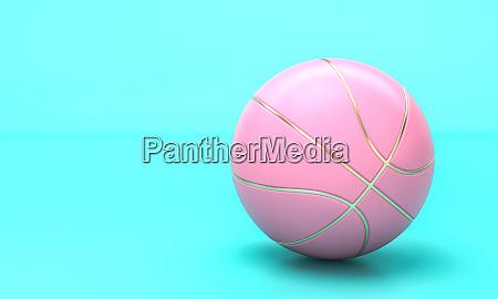 rosa basketball auf blauem hintergrund im