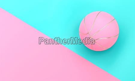 rosa basketball auf bicolor hintergrund