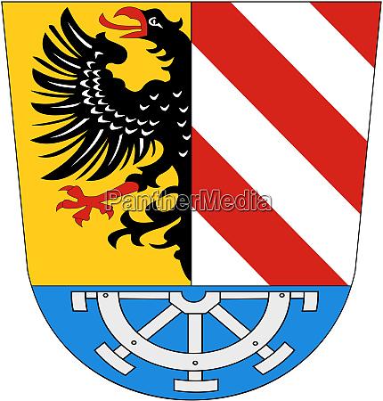 wappen des landkreises nuernberg deutschland
