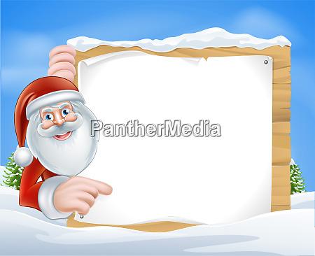 weihnachten cartoon santa zeichen