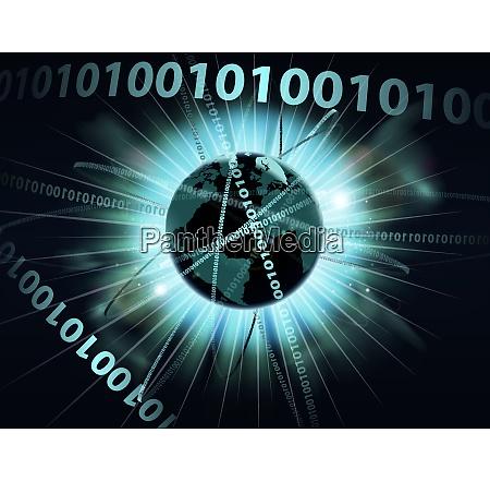 binaere informationsdaten globus