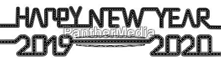 frohes neues jahr 2019 2020 symbolisiert
