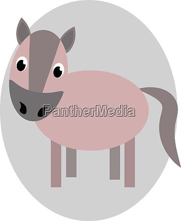 zeichnung eines braunen pferdes