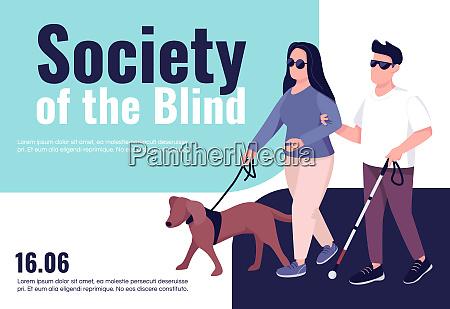 blinde menschen inklusion banner flache vektor