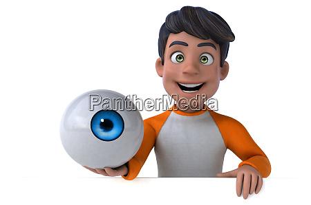 spass 3d cartoon asiatischen teenager
