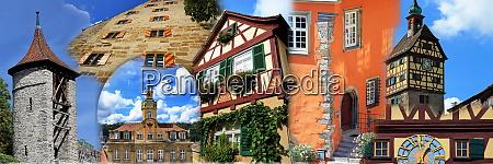 collage aus der stadt schwaebisch hall