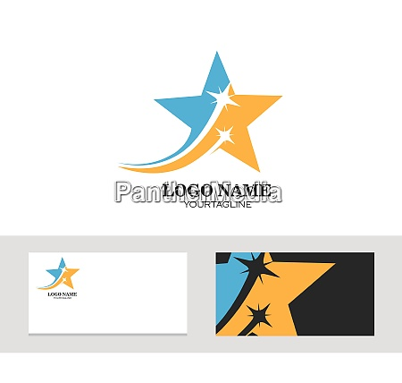 logo symbol firmenkarte schnelle stern vektor