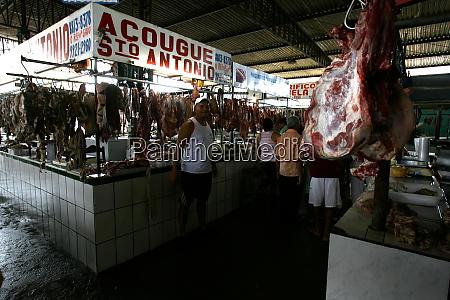 fleisch auf der itabuna messe verkauft
