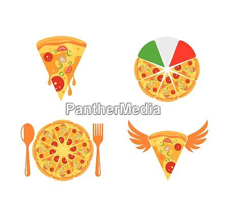 pizza symbol logo illustration vektor design