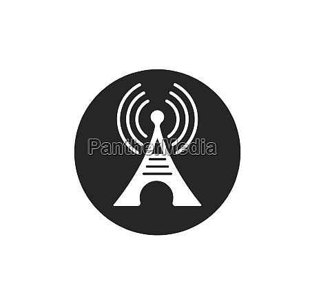 tower signal logo symbol vektor illustration