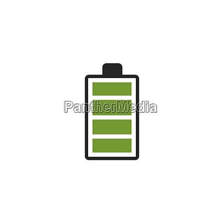 batterie symbol logo illustrationsvektor