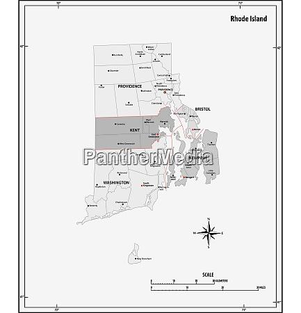 rhode island state skizzieren administrative und