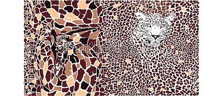 abstrakte textur einer giraffe und eines