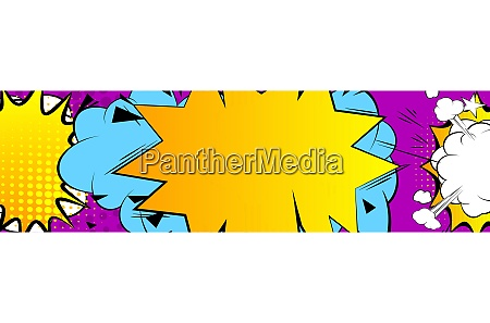 cartoon design colored banner