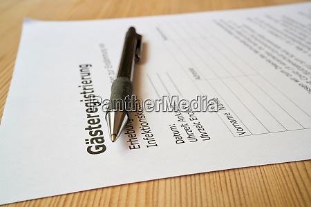 formular zur gaesteregistrierung gaesteregistrierung