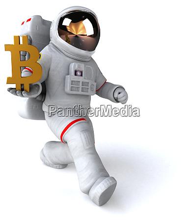 spaß, astronaut, -, 3d-illustration - 28717290