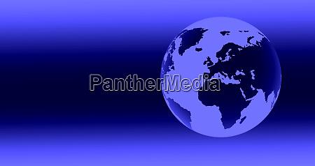 digital generierte blaue kugel