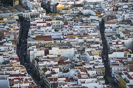 spain seville triana high angle view