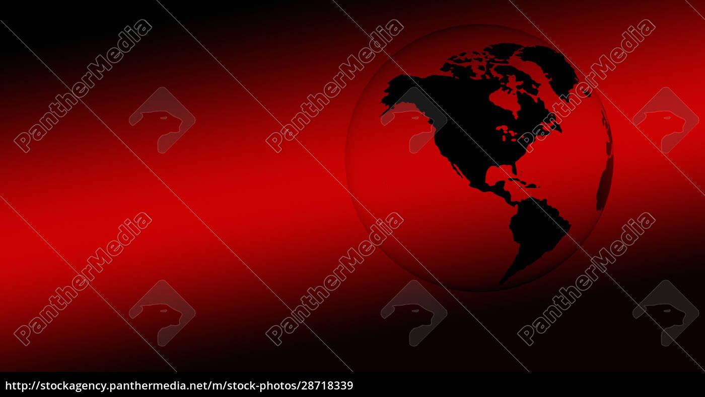 digital, generierter, roter, globus - 28718339