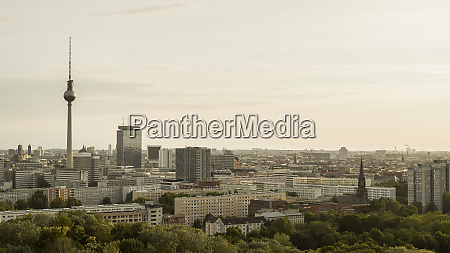 berlin cityscape and television tower germany