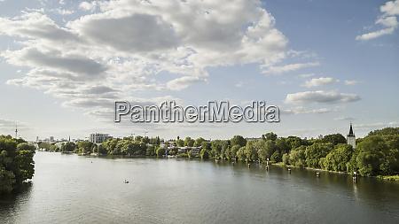 sunny view spree river berlin germany