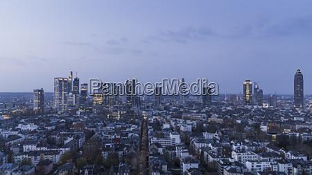 cityscape at night frankfurt germany