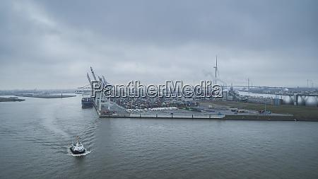 scenic view port of hamburg commercial