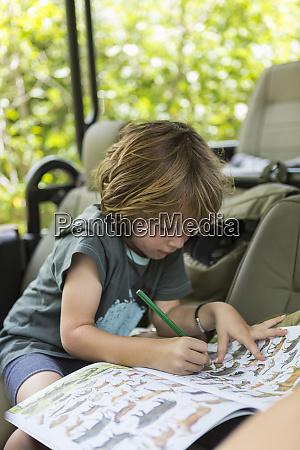 fuenfjaehriger junge zeichnung moremi reserve botswana
