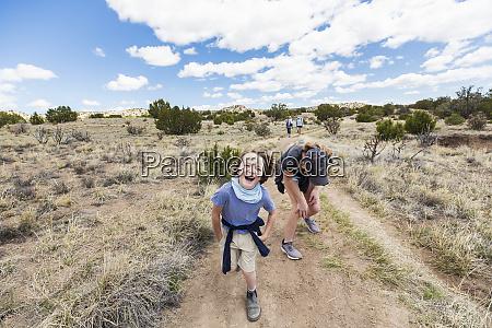 6 year old boy running on