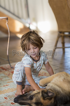 4 year old boy playing with