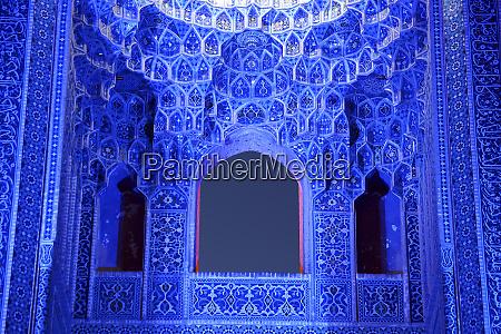 interior of jameh mosque yazd iran