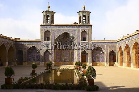 iran fars province shiraz courtyard ofnasir