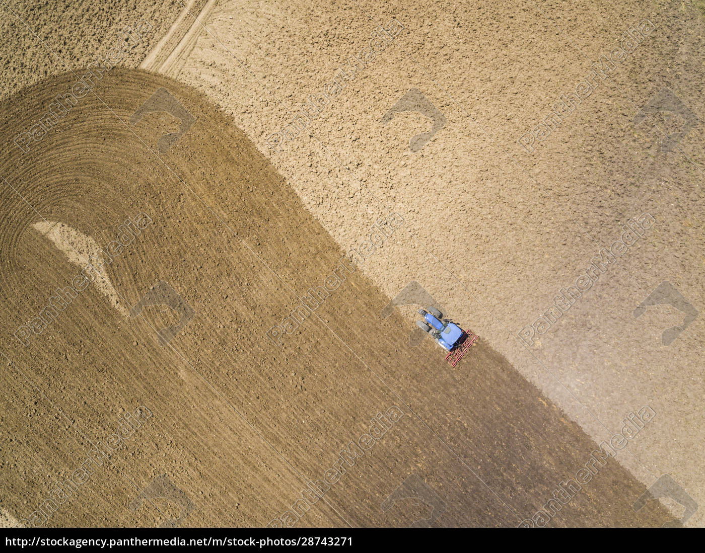 aerial, view, of, tractor, in, farm, - 28743271