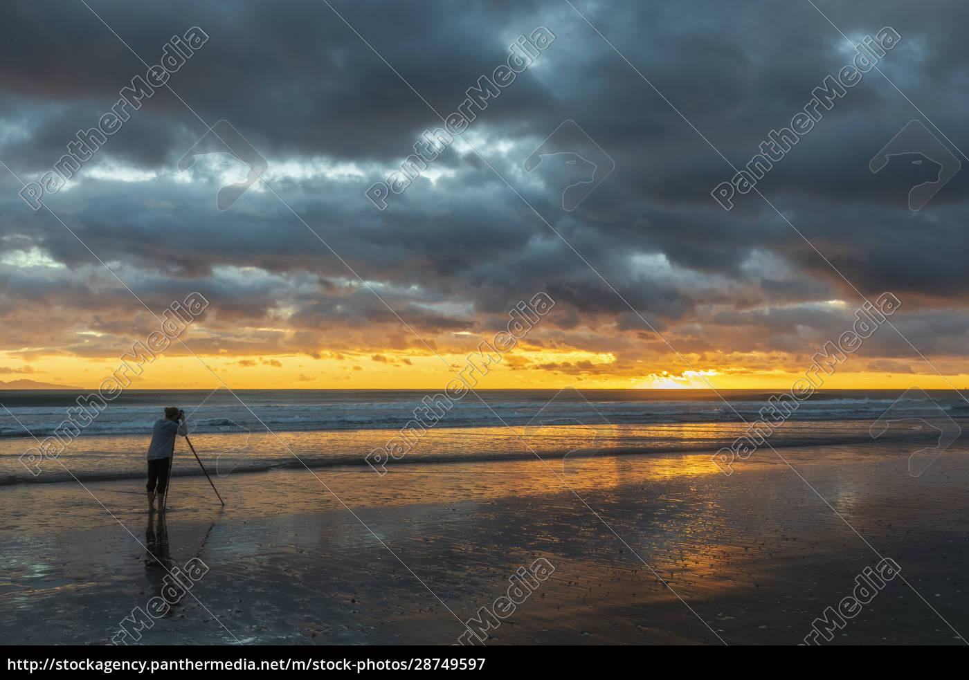 neuseeland, nordinsel, waikato, waihi, beach, malerische, randdaufige, aussicht, auf, den - 28749597