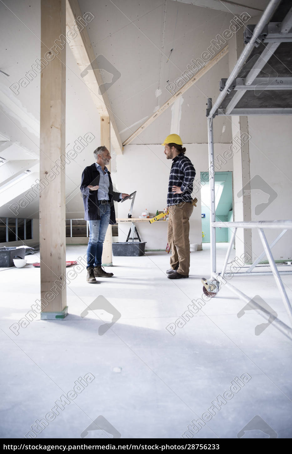 architect, and, construction, worker, planning, while - 28756233