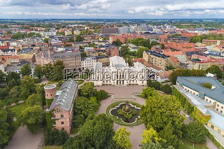 schweden scania lund luftaufnahme der universitaet