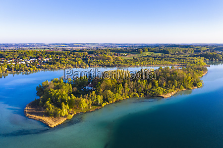 germany, , bavaria, , inning, am, ammersee, , drone - 28760203