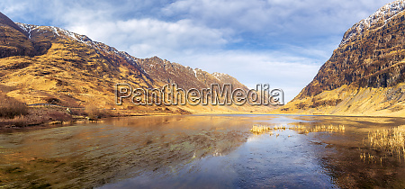 grossbritannien schottland panorama von loch achtriochtan