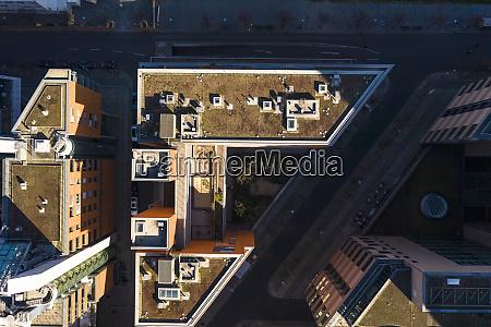 deutschland berlin luftaufnahme des daches eines