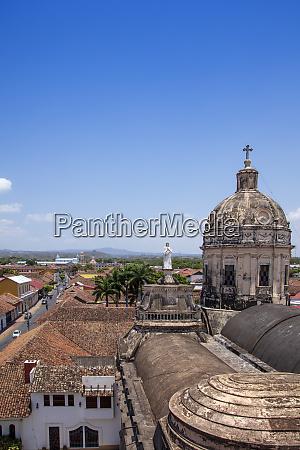 skyline der stadt granada nicaragua zentralamerika