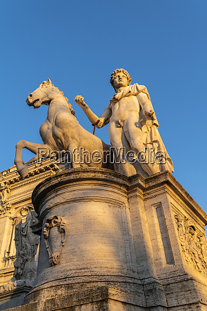 one of the dioscuri statue at