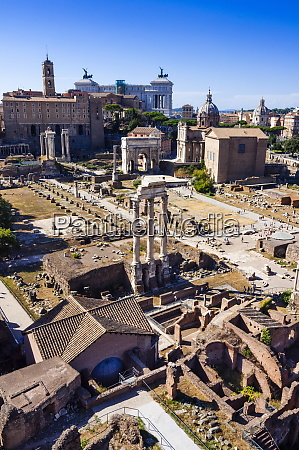 roman forum seen from palatine hill