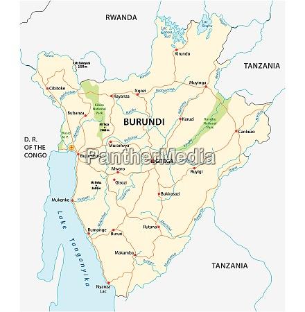 vektor roadmap von burundi mit der