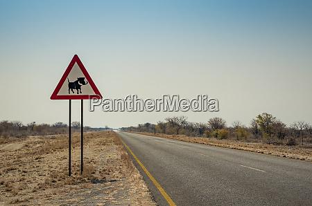 warzenschwein warnzeichen namibia