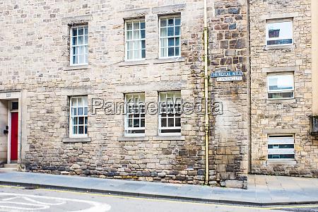 royal mile street sign edinburgh schottland