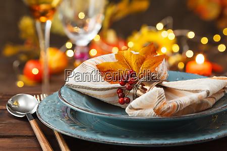 thanksgiving herbst platz einstellung
