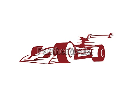 formel racing car illustration mit silhouette