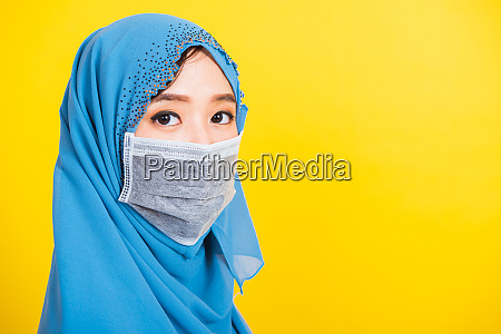 asiatische muslimische arabische junge frau tragen